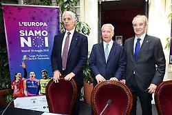 GIOVANNI MALAGO' MAURO FABRIS E BRUNO CATTANEO<br /> CONFERENZA LEGA VOLLEY FEMMINILE SQUADRE ITALIANE PROTAGONISTE IN EUROPA<br /> FOTO FILIPPO RUBIN / LVF