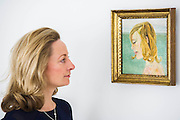 Girl by the Sea - Lucian Freud  at Ordovas - Portraits chronicling the relationship of Lucian Freud and Caroline (Lady Caroline Blackwood, his second wife), dating from 1950s. The four paintings on show are - The Sisters, a delicate canvas from 1950, a life-size depiction of Caroline's eye, which is being shown for the first time in the UK and is the earliest work in the exhibition; Girl in Bed; Girl Reading; and Girl by the Sea. They will be on show from 5 June until 1 August.