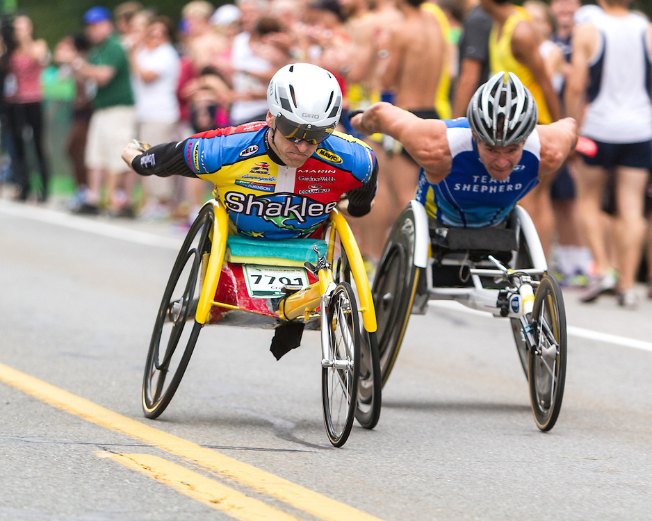 Beach to Beacon 10K road race: wheelchair racers