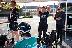 Rachele Barbieri (ITA) prepares for ASDA Tour de Yorkshire Women's Race 2018 - Stage 1, a 132.5 km road race from Beverley to Doncaster on May 3, 2018. Photo by Sean Robinson/Velofocus.com