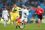 Real Madrid's Spanish midfielder Isco runs with the ball during the Spanish championship Liga football match between Real Madrid and Villarreal on January 13, 2018 at Santiago Bernabeu stadium in Madrid, Spain - Photo Benjamin Cremel / ProSportsImages / DPPI