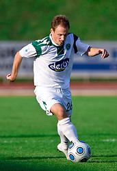 Davor Skerjanc of Olimpija at the football match Interblock vs Olimpija in 10th Round of Prva liga 2009 - 2010,  on September 23, 2009, in ZSD Ljubljana, Ljubljana, Slovenia. Olimpija won 1:0.  (Photo by Vid Ponikvar / Sportida)