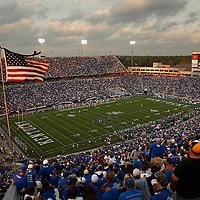 Sept. 11, 2010 - Lexington, Kentucky, USA -  The University of Kentucky played Western Kentucky University at Commonwealth Stadium. Kentucky won the game, 63-28. (Credit image: © David Stephenson/ZUMA Press)