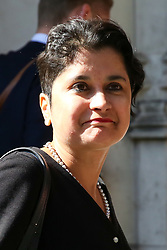 © Licensed to London News Pictures. 17/09/2019. London, UK. Baroness Shami Chakrabarti, the Shadow Attorney General leaves UK Supreme Court in London on the first day of the three day appeal hearing in the multiple legal challenges against the Prime Minister Boris Johnson's decision to prorogue Parliament ahead of a Queen's speech on 14 October. Eleven instead of the usual nine Supreme Court justices will hear the politically charged claim that Boris Johnson acted unlawfully in advising the Queen to suspend parliament for five weeks in order to stifle debate over the Brexit crisis.It is the first time the Supreme Court has been summoned for an emergency hearing outside legal term time.Lady Hale, the first female president of the court who retires next January, will preside. Photo credit: Dinendra Haria/LNP