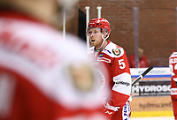2020-03-07   Ljungby, Sverige: Troja-Ljungby (5) Carl Ernstig under matchen i Hockeyettan mellan IF Troja/Ljungby och Bodens HF i Ljungby Arena ( Foto av: Fredrik Sten   Swe Press Photo )<br /> <br /> Nyckelord: Ljungby, Ishockey, Hockeyettan, Ljungby Arena, IF Troja/Ljungby, Bodens HF, fstb200307, playoff, kval