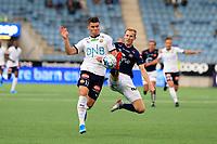 Fotball , 18. august 2019 , Eliteserien , Viking Stavanger - Strømsgodset.<br />Kristoffer Tokstad of Strømsgodset in action mot Viljar Vevatne<br />Foto: Andrew Halseid Budd , Digitalsport