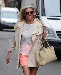 Denise Van Outen leaving Magic FM in central London, UK. 12/04/2014<br />BYLINE MUST READ : GOTCHAIMAGES.COM<br /><br />Copyright by © Gotcha Images Ltd. All rights reserved.<br />Usage of this image is conditional upon the acceptance <br />of Gotcha Images Ltd, terms and conditions available at<br />www.gotchaimages.com