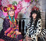 Mardi Gras portrait of Ali Duffey (right) at Stacy Hoover's Wonderland, 2018