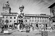 The big bimbo, Piazza Maggiore, Bologna. June 10, 2017