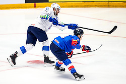 Anze Kopitar of Slovenia Wonjung Kim of South Korea during ice hockey match between South Korea and Slovenia at IIHF World Championship DIV. I Group A Kazakhstan 2019, on April 30, 2019 in Barys Arena, Nur-Sultan, Kazakhstan. Photo by Matic Klansek Velej / Sportida