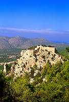 Castle of Monolithos, west coast of the island of Rhodes (Rodos), Dodecanese, Greece
