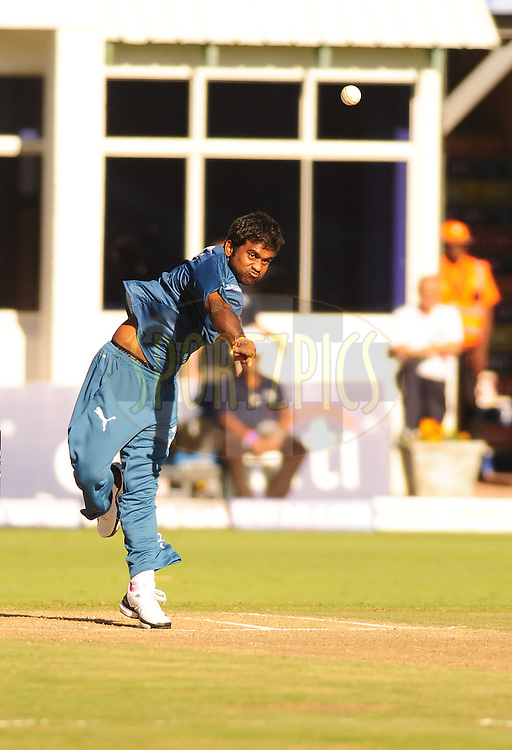 PORT ELIZABETH, SOUTH AFRICA - 2 May 2009.  Rao bowls during the  IPL Season 2 match between the Deccan chargers vs Rajasthan Royals held at St Georges Park in Port Elizabeth , South Africa.