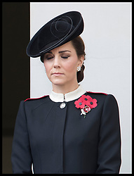 November 11, 2018 - London, London, United Kingdom - Image licensed to i-Images Picture Agency. 11/11/2018. London, United Kingdom.  Duchess of Cambridge   at the Remembrance Sunday service at The Cenotaph in London on  the Centenary of the end of the First World War. (Credit Image: © Stephen Lock/i-Images via ZUMA Press)