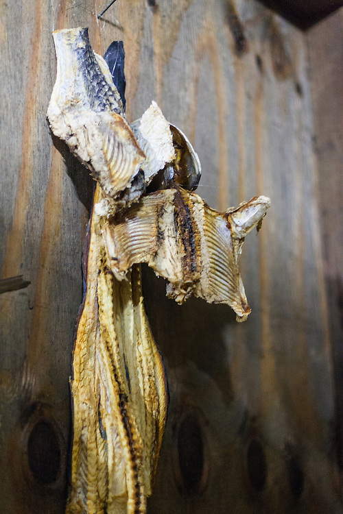 Dried eel at Marigot Bay, Saint Lucia. © Allen McEachern.