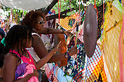 Festival attendees help make music in the Soundnest at Artscape in Baltimore, MD on Sunday, July 21, 2013.