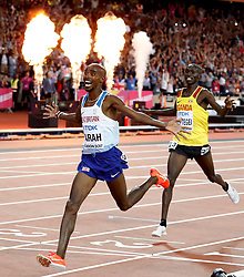 File photo dated 04-08-2017 of Great Britain's Mo Farah wins the Men's 10,000m during day one of the 2017 IAAF World Championships at the London Stadium.