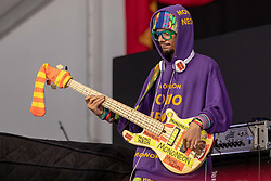 May 3, 2018 - New Orleans, Louisiana, U.S - MONONEON (DWAYNE THOMAS JR.) during 2018 New Orleans Jazz and Heritage Festival at Race Course Fair Grounds in New Orleans, Louisiana (Credit Image: © Daniel DeSlover via ZUMA Wire)