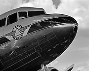 Delta DC-3 nose, shot at the Great Georgia Airshow in 2001.  Falcon Field, Peachtree City, Georgia.