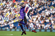 Stoke City midfielder James McClean (11) battles for possession  with West Bromwich Albion midfielder Chris Brunt (11) during the EFL Sky Bet Championship match between West Bromwich Albion and Stoke City at The Hawthorns, West Bromwich, England on 1 September 2018.