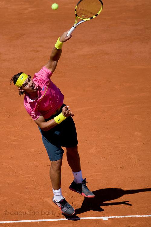 Paris, France. May 29th 2009. .Roland Garros - Tennis French Open. 3rd Round..Spanish Player Rafael Nadal against Lleyton Hewitt