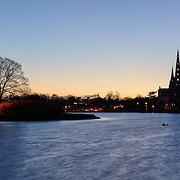 Lichfield panoramic city skyline