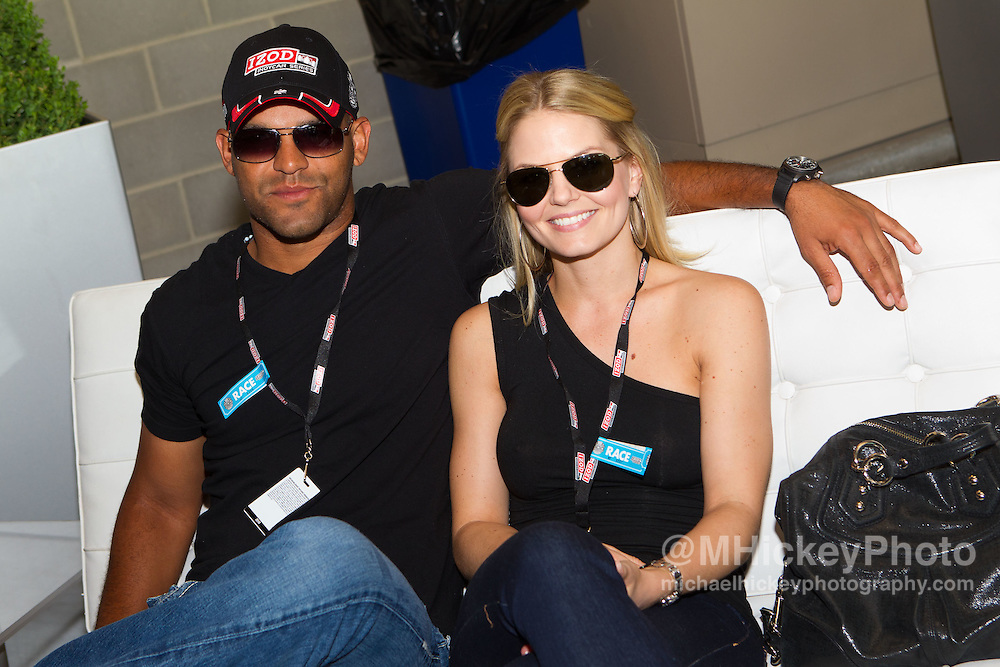 Amaury Nolasco and Jennifer Morrison seen at the Indy 500.<br /> Photo by Michael Hickey