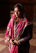 Indian woman at Akbar's Tomb,Agra,Uttar Pradesh,India<br /> Model release 0318