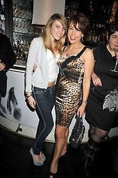 GEORGIE ROBERTSON and her mother KATHY LETTE at a party to celebrate the publication of 'In Bed With' held at the Artesian Bar,The Langham Hotel, 1c Portland Placeon 11th February 2009.