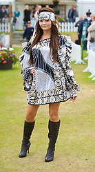 LIVERPOOL, ENGLAND - Saturday, June 20, 2009: Louise Doran of John Alexander Model Agency wearing the new Summer/Autumn collection from AllMac Designs during a fashion show on Day Four of the Tradition ICAP Liverpool International Tennis Tournament 2009 at Calderstones Park. (Pic by David Rawcliffe/Propaganda)