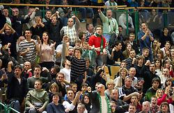 Supporters of Krka during basketball match between KK Krka and Union Olimpija Ljubljana of Round 7th of ABA League 2011/2012, on November 12, 2011 in Arena Leon Stukelj, Novo mesto, Slovenia. (Photo By Vid Ponikvar / Sportida.com)