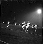 22/02/1963.02/22/1963.22 February 1963.Celtic vs Morton at Dalymount park, Dublin. Special for Scottish Daily Express. Jim Kiernan, Morton and John Hughes, Celtic, race for the ball as it goes over the end line.