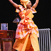 BENEATHA - Chasten Harmon performs on stage as part of the Chautauqua Theater performance of a Raisin in the Sun in the Bratton Theater at Chautauqua Institution July 2014 Photo by Mark L. Anderson