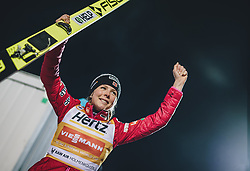 09.03.2020, Lysgards Schanze, Lillehammer, NOR, FIS Weltcup Skisprung, Raw Air, Lillehammer, Damen, Siegerehrung, im Bild Maren Lundby (NOR) // Maren Lundby of Norway during the winner ceremony for the women's 2nd Stage of the Raw Air Series of FIS Ski Jumping World Cup at the Lysgards Schanze in Lillehammer, Norway on 2020/03/09. EXPA Pictures © 2020, PhotoCredit: EXPA/ JFK