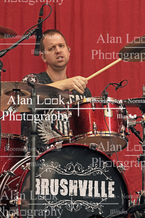 22 December 2013:  Darin Holthaus. Brushville (formerly Brushfire) plays as the entertainment and pep band for a men's NCAA basketball game between the Blue Demons of DePaul and the Redbirds of Illinois State at Redbird Arena in Normal IL