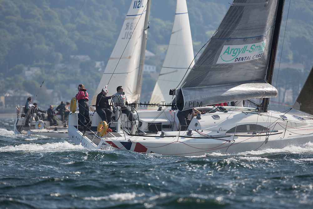 Largs Regatta Week 2015, hosted by Largs Sailing Club and Fairlie Yacht Club<br /> <br /> GBR1429L, Warrior, Archambault A40RC, Ross Fullarton, CBSC/FYC<br /> <br /> <br /> Credit Marc Turner
