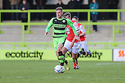 Forest Green's Elliott Frear during the Vanarama National League match between Forest Green Rovers and Macclesfield Town at the New Lawn, Forest Green, United Kingdom on 30 January 2016. Photo by Shane Healey.