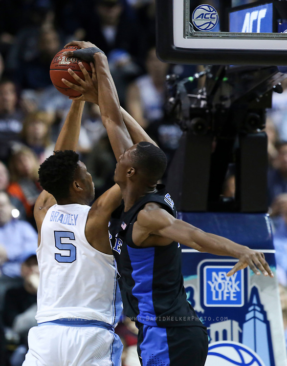 during the semifinals of the 2017 New York Life ACC Tournament at the Barclays Center in Brooklyn, N.Y., Friday, March 10, 2017. (Photo by David Welker, theACC.com)