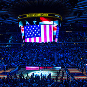 March 11, 2017: A general view of The National Anthem  at The 35th Big East Tournament during the game between The Villanova Wildcats and The Creighton Bluejays at Madison Square Garden, New York, New York. The Villanova Wildcats defeat The Creighton Bluejays 74-60 to win The Big East Championship. Mandatory credit: Kostas Lymperopoulos/CSM (Credit Image: © Kostas Lymperopoulos/Cal Sport Media)