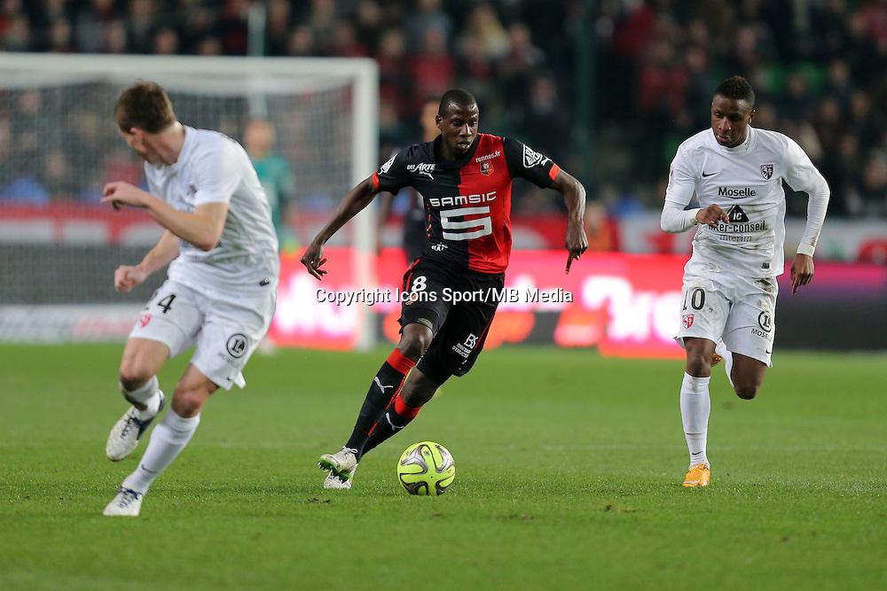 Abdoulaye DOUCOURE / Bouna SARR  - 07.03.2015 -  Rennes / Metz -  28eme journee de Ligue 1 <br />Photo : Vincent Michel / Icon Sport