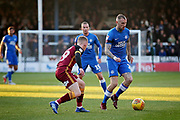 Peterborough United midfielder Marcus Maddison (21) on the attack during the EFL Sky Bet League 1 match between Peterborough United and Bradford City at The Abax Stadium, Peterborough, England on 17 November 2018.