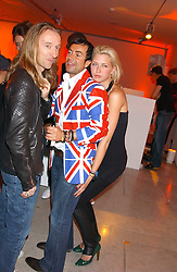 JULIEN MACDONALD and MARGO STILLEY at a cocktail party hosted by MAC cosmetics to kick off London Fashion Week at The Hospital, 22 Endell Street London on 18th September 2005.At the event, top model Linda Evangelista presented Ken Livingston the Lord Mayor of London with a cheque for £100,000 in aid of the Loomba Trust that aims to privide education to orphaned children through a natural disaster or through HIV/AIDS.<br /><br />NON EXCLUSIVE - WORLD RIGHTS
