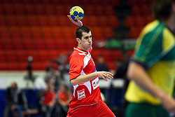 14.01.2011, Himmelstalundshallen, Norrköping, SWE, IHF Handball Weltmeisterschaft 2011, Herren, Österreich vs Brasilien, im Bild, // Austria #7 Janko Bozovic // during the IHF 2011 World Men's Handball Championship match Austria vs Brazil at Himmelstalundshallen in Norrkoping, Sweden on 14/1/2011. EXPA Pictures © 2011, PhotoCredit: EXPA/ Skycam/ Michael Buch +++++ ATTENTION - ..OUT OF SWEDEN/SWE +++++