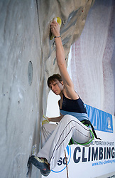 Slovenian climber Patricija Levstek at World cup competition in Zlato polje, Kranj, Slovenia, on November 15, 2008.  (Photo by Vid Ponikvar / Sportida)