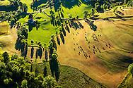France, Languedoc Roussillon, Lozère, Cévennes, région Barre-des-Cévennes,  vue aérienne