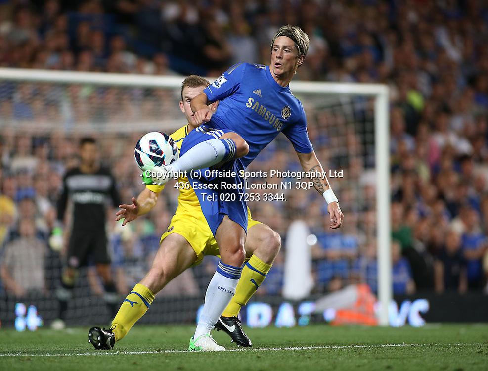 22 August 2012 Premier League football. Chelsea v Reading.<br /> Fernando Torres.<br /> Photo: Mark Leech.