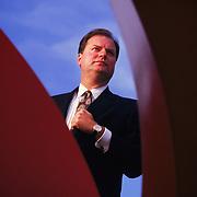 Executive portrait, Lee Thomas, investment banker.