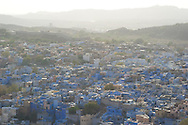 An aerial view of 'The Blue City', Jodhpur, Rajasthan, India