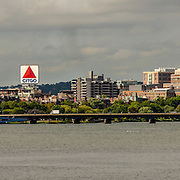 What says Boston more than the iconic sign at Kenmore Square.  This was shot on a clear bright autumn day.  Lots of people are taking advantage of the weather to be sailing on the Charles.