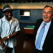 Buddy Guy and Chicago Mayor Richard Daley at Legends Blues Club. Guy opened his famous Blues club in the South Loop.<br />