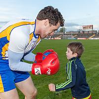 Mark McGrath showing Clare's Shane Brennan how to box